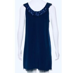 New ALICE+OLIVIA SILK SEQUINED A-LINE SHIFT DRESS